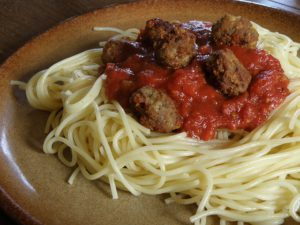 Turkey meatballs with pasta